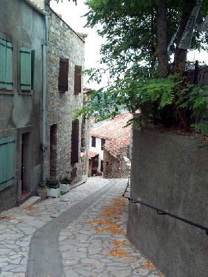The twisting streets of the old village
